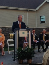 Michael C. Tarwater, MHA Chief Executive Officer of Carolinas Healthcare System speaks at the Grand Opening of the new Davidson Hospital